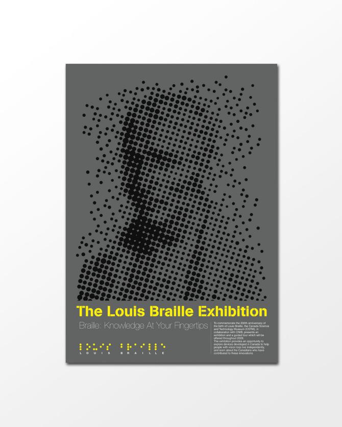 Louis Braille Exhibition Poster
