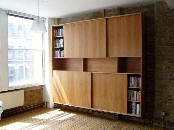 Bookcase With Sliding Doors Stonermakes