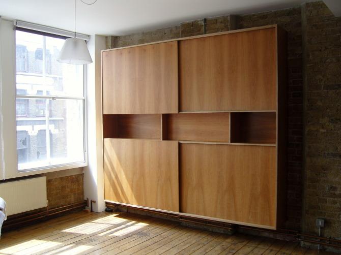 Bookcase with sliding doors - Stonermakes
