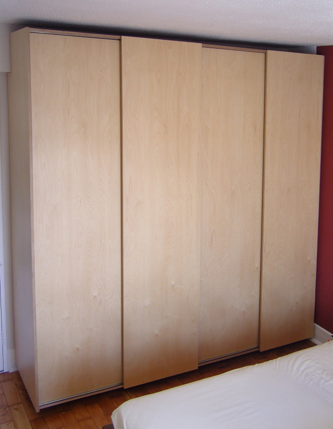 Wardrobe With Sliding Doors Stonermakes