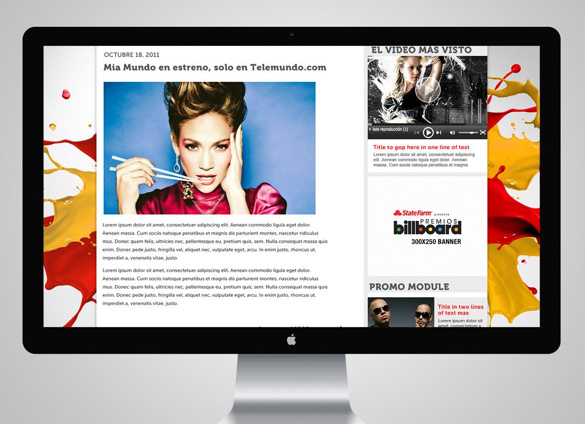 Telemundo Digital Rebranding - David Garcia   Design