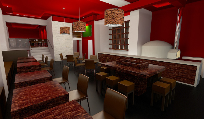 Restaurant design unique form