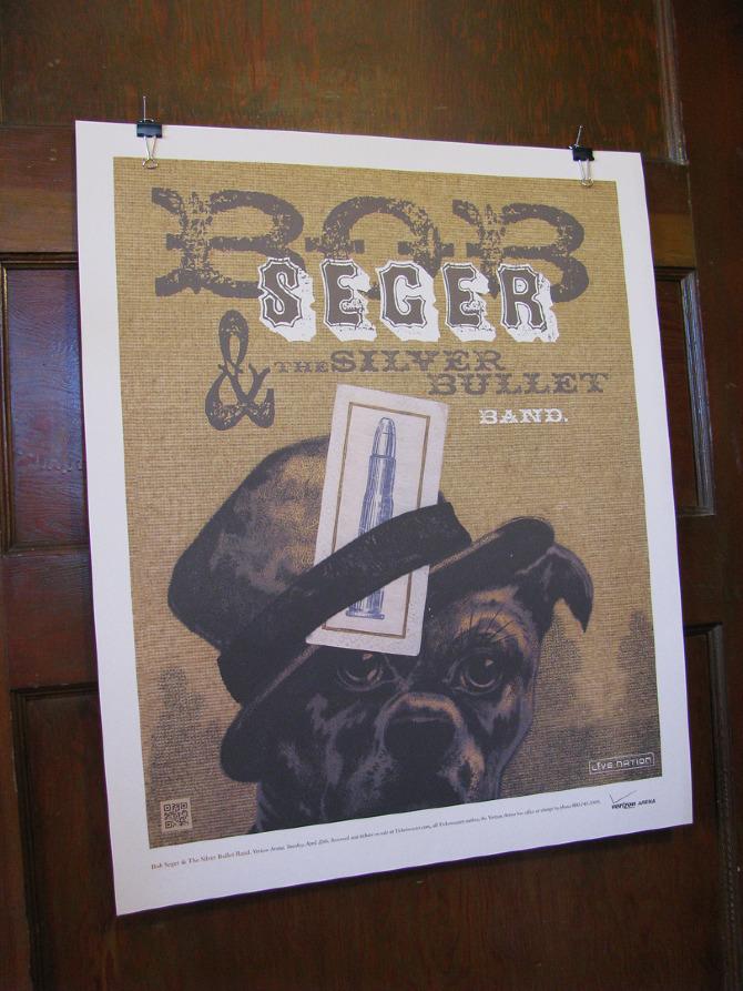 bob seger concert poster
