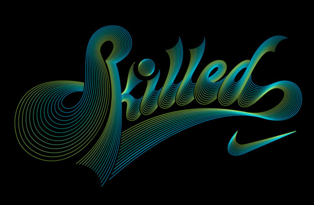 Nike Skilled Type Treatment Luke Lucas Typographer