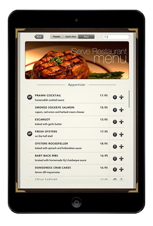 idine - interactive menu app