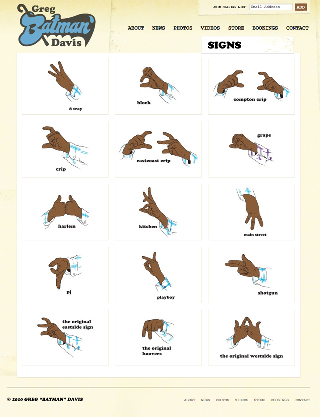 pics for gt crips hand signs