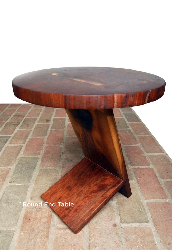 Round End Table - The Bancroft Collaborative