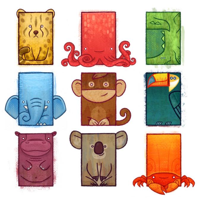 Square Animals Ron Nadel