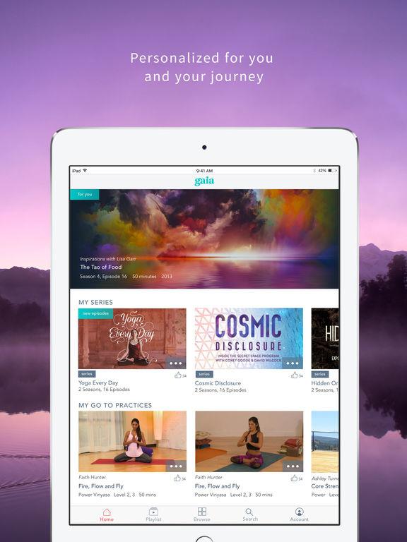 Gaia iOS Mobile & Tablet App - Elizabeth Wallace
