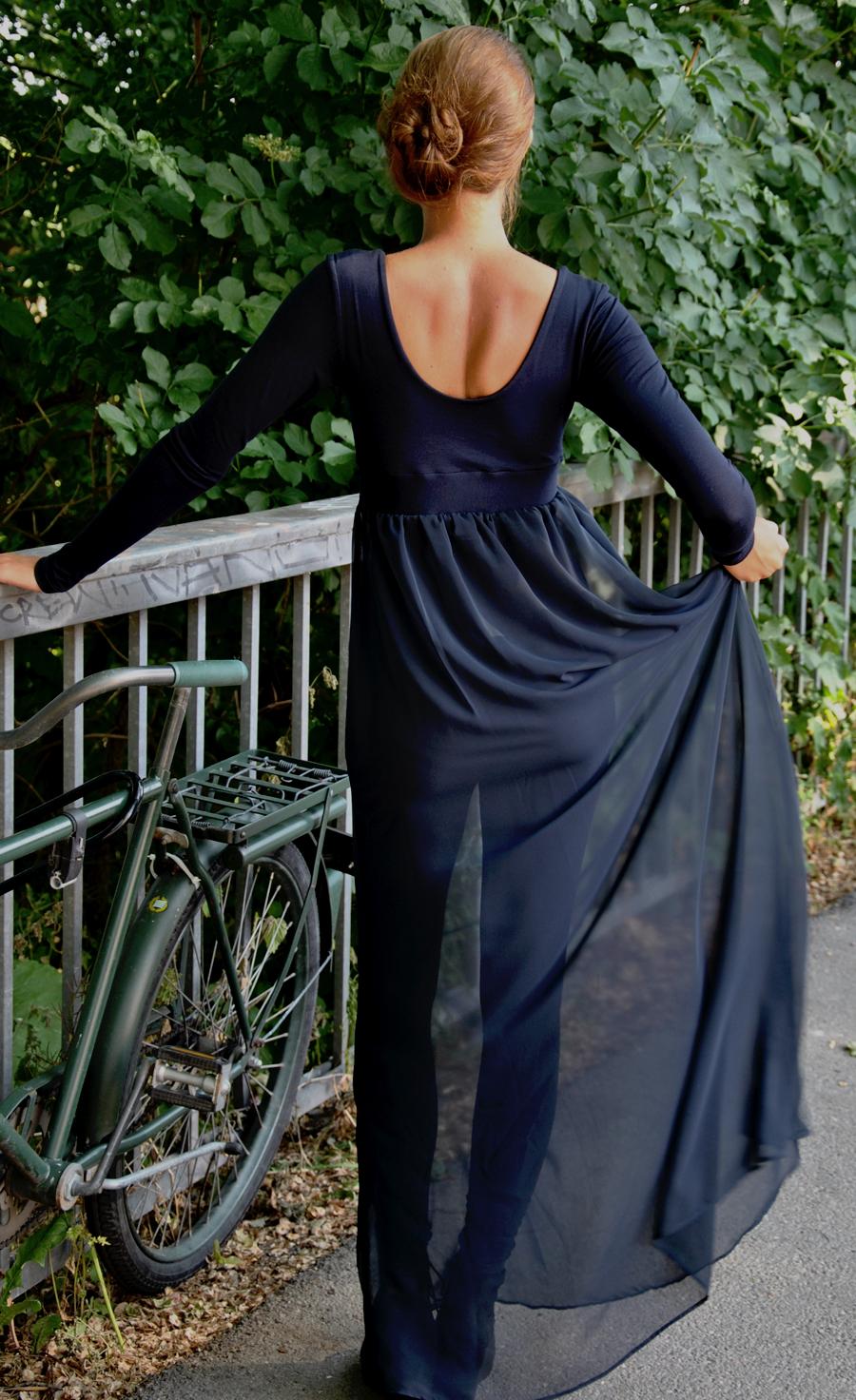 Blue Transparent Chiffon Dress Therese Jasmine Jobson
