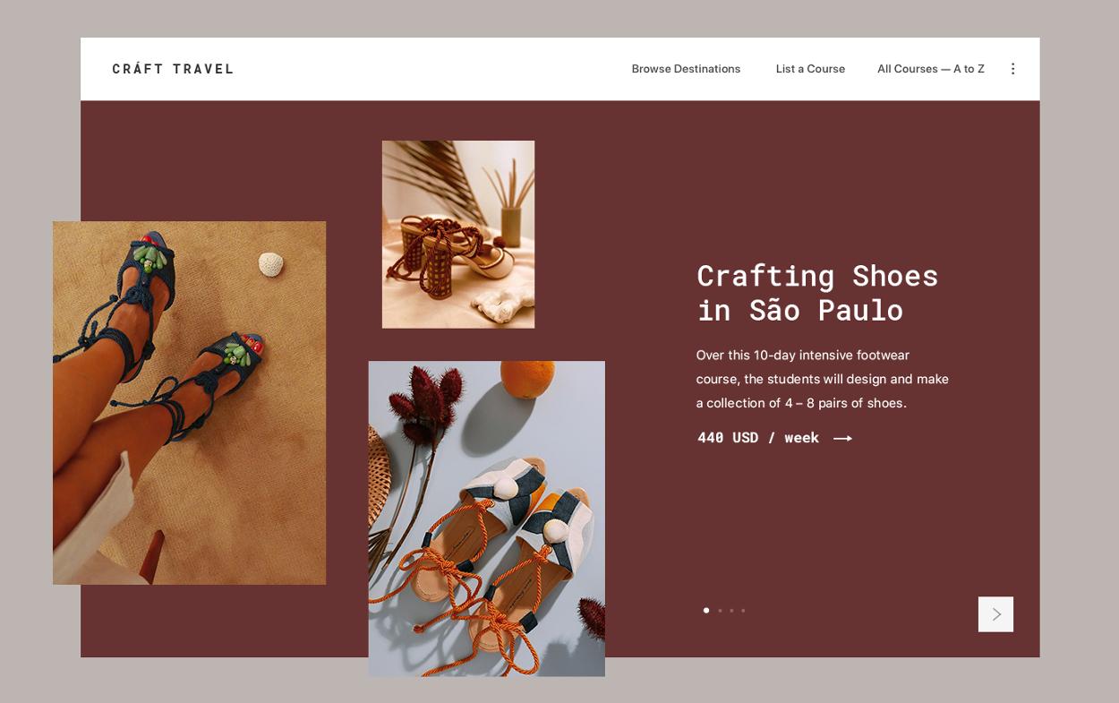 Craft Travel Minimalistic Ui Design For Travel Agency Service