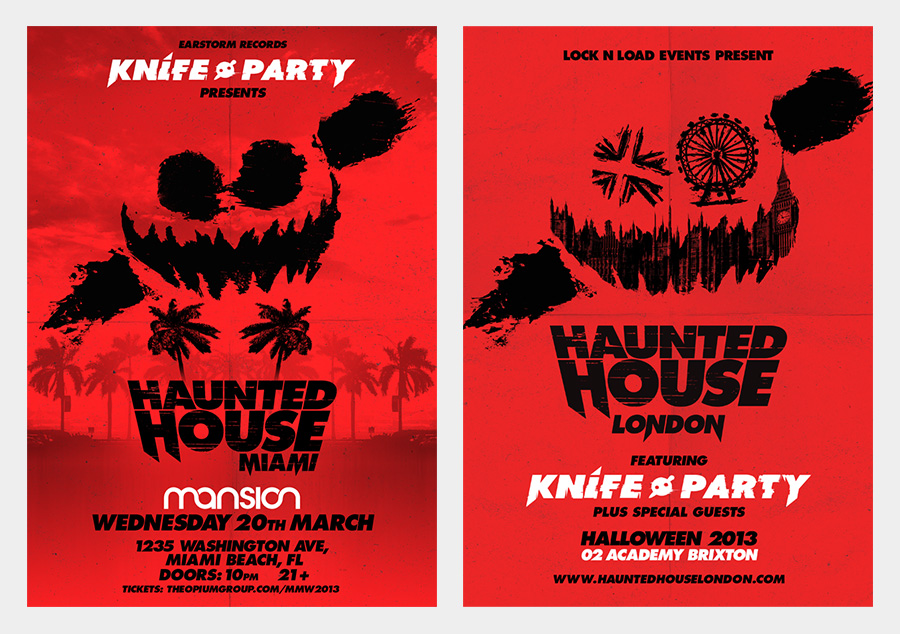 KNIFE PARTY - HAUNTED HOUSE - Portfolio of Christopher Haines