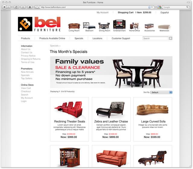 Bel furniture website design versatile creative Home furniture online websites