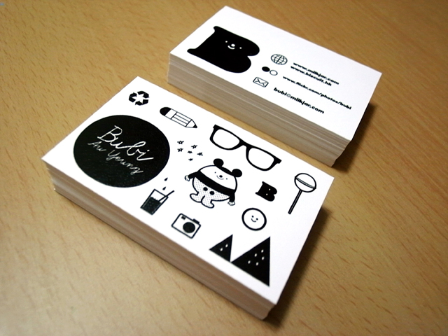 Business card bubi au yeung my another design on recycle paper colourmoves
