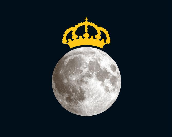 Resultado de imagen de real madrid flag on the moon