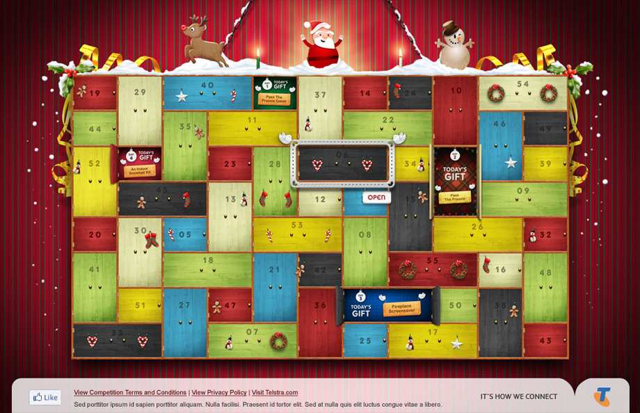 Telstra - 55 Days of Christmas - Thales Ribeiro - Art Direction ...