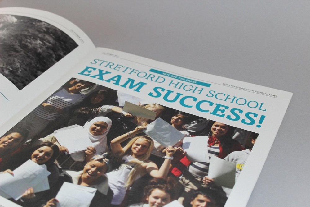 ab0564718112 Stretford High School newsletter design. Designed to look and feel like a  real newspaper