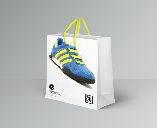 8d3ba3d54d3d Freshers week JD sports lace giveaway concept. A promotional bag design  that incorporates free laces as the handles. The bag would be filled with  various ...