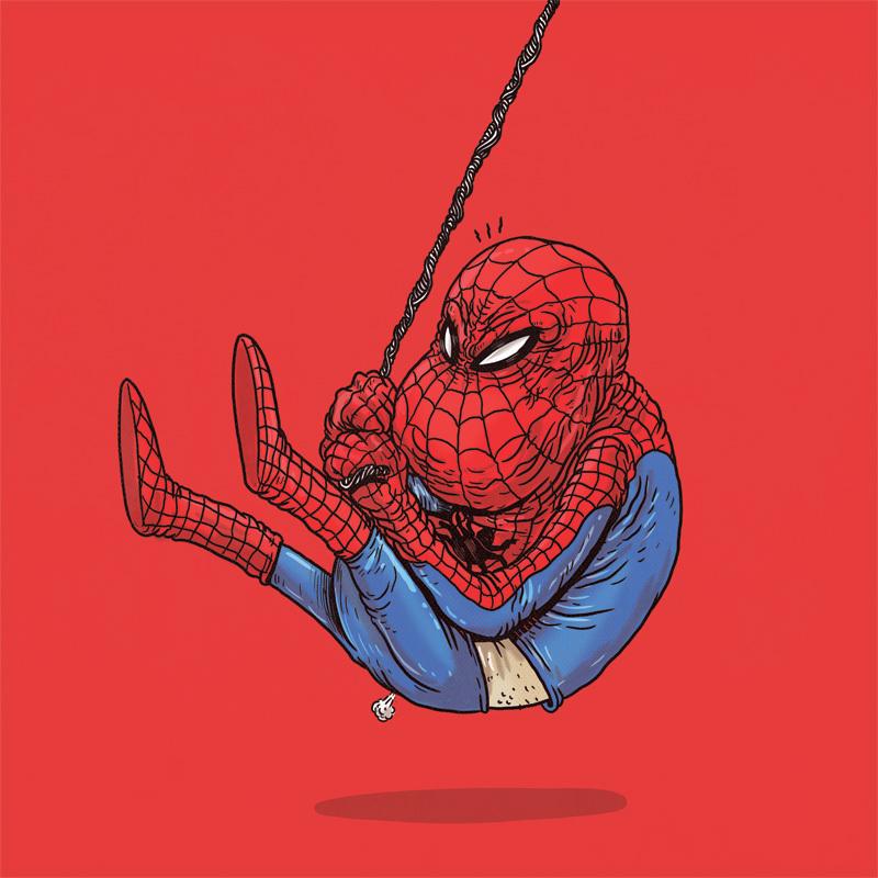 Новым, прикольные картинки с супергероями марвел