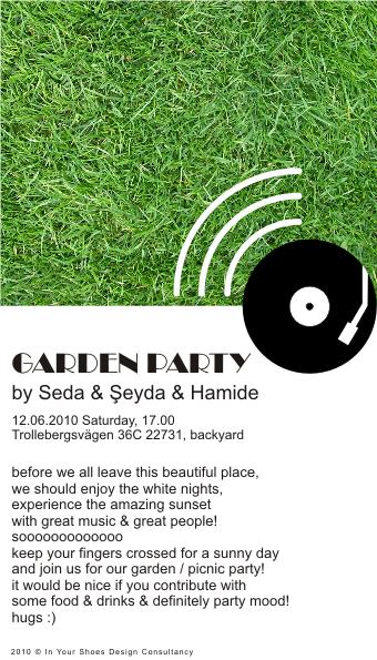 Garden Party - Designer Seda Ozcetin