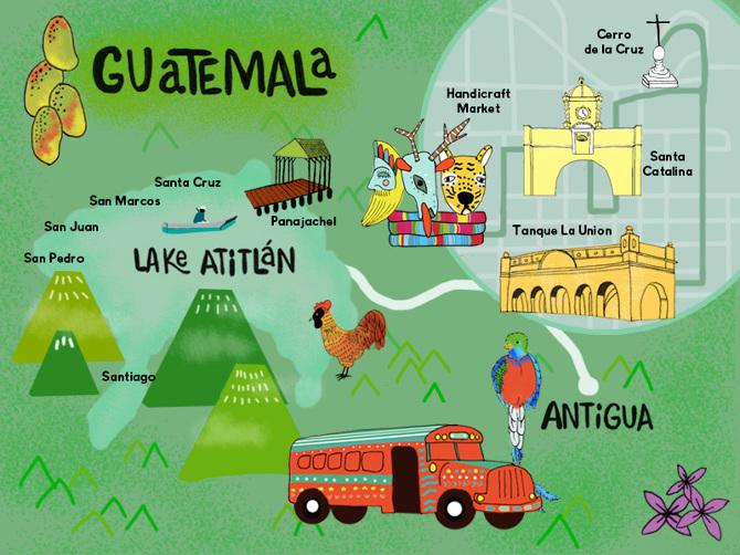 Map of Guatemala - jenreyn
