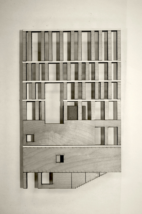 rafael moneo murcia town hall facade model