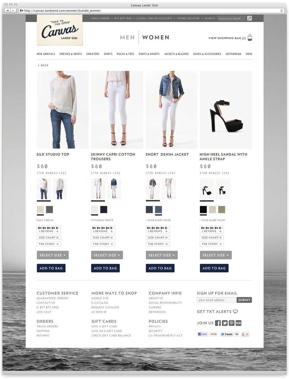 Canvas Lands' End Redesign - george agpoon / digital creative director