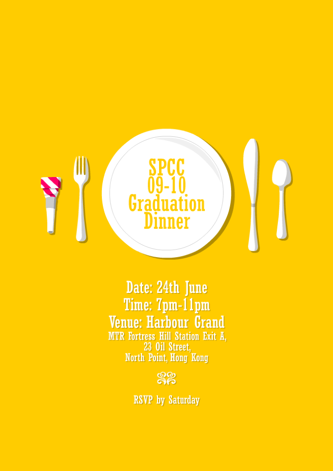 Graduation Dinner Invitation - jonathan mak