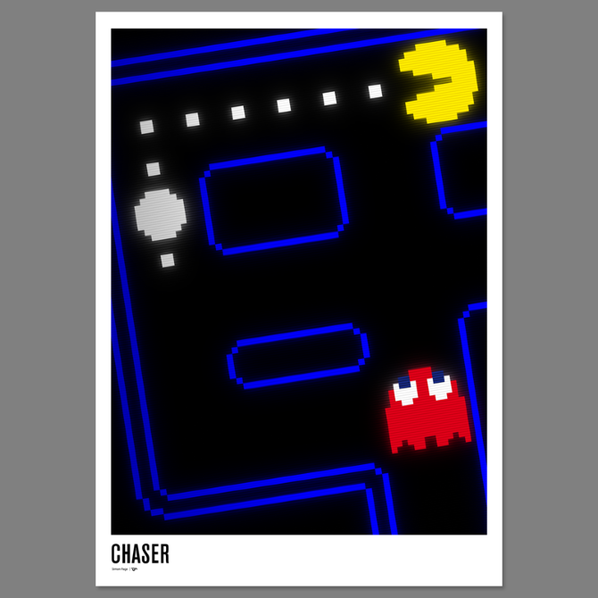 pac-man 30th anniversary poster - excites