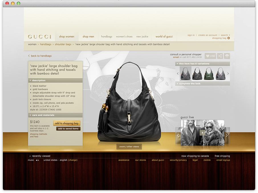 gucci website. window displays gucci website m