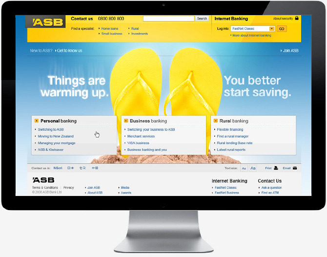 ASB Bank - Marshall Lorenzo - Web / Graphic designer, art director