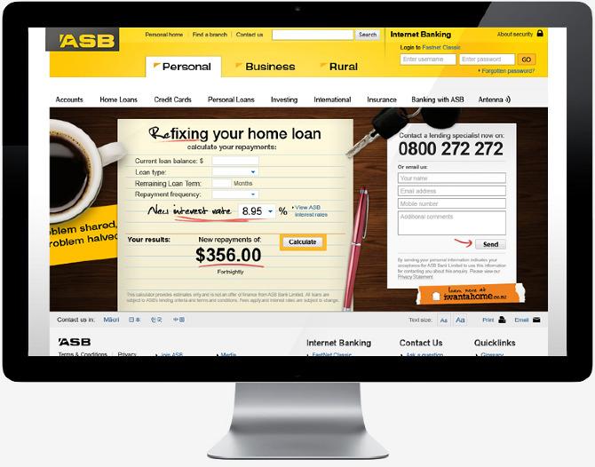ASB Bank - Marshall Lorenzo - Web / Graphic designer, art