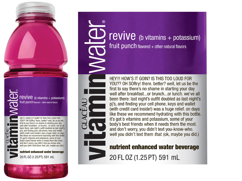 Vitamin Water Revive Label Vitamin Water Revive Label