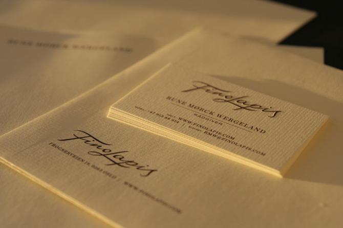 Finolapis didrik rasmussen portfolio all stationary printet with pms colour 4625 on conqueror texture laid cream embossed logo on business cards colourmoves