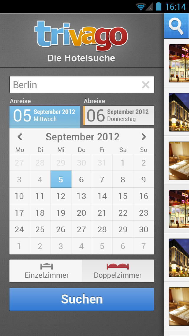 Trivago Android App