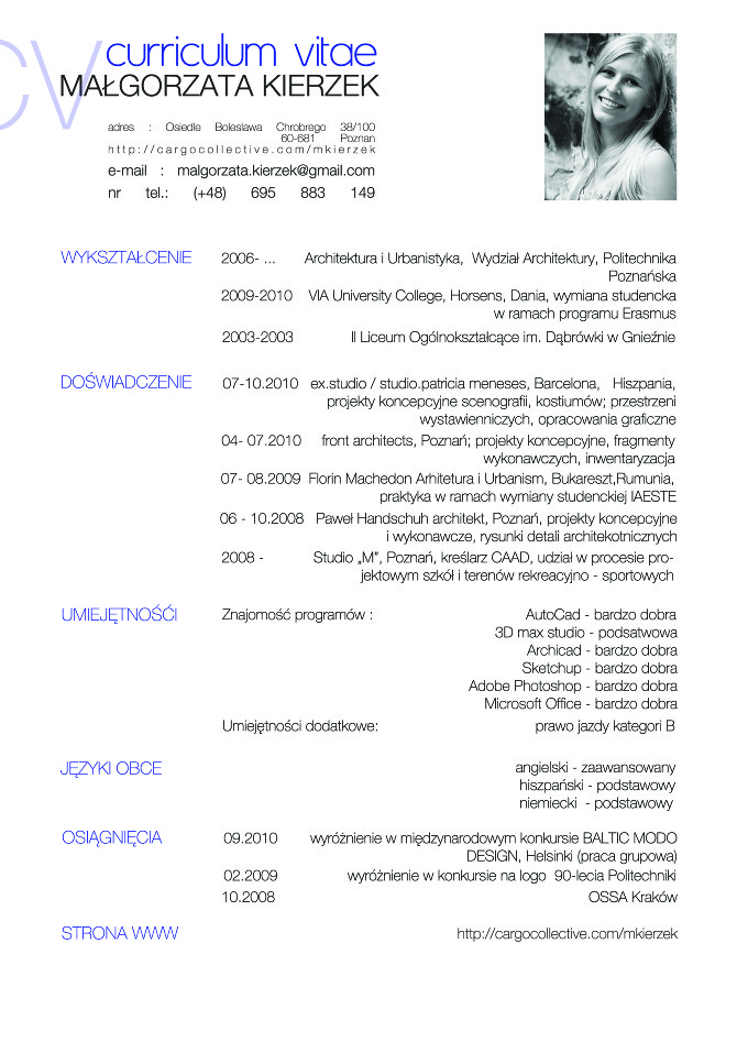 Contact & Info - architecture