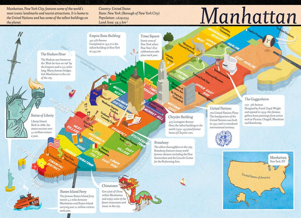 Computer Arts Projects Manhattan Robin Boyden Illustration – Map Manhattan