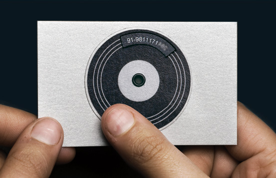 Dj business cards res72 creative surveillance system reheart Gallery