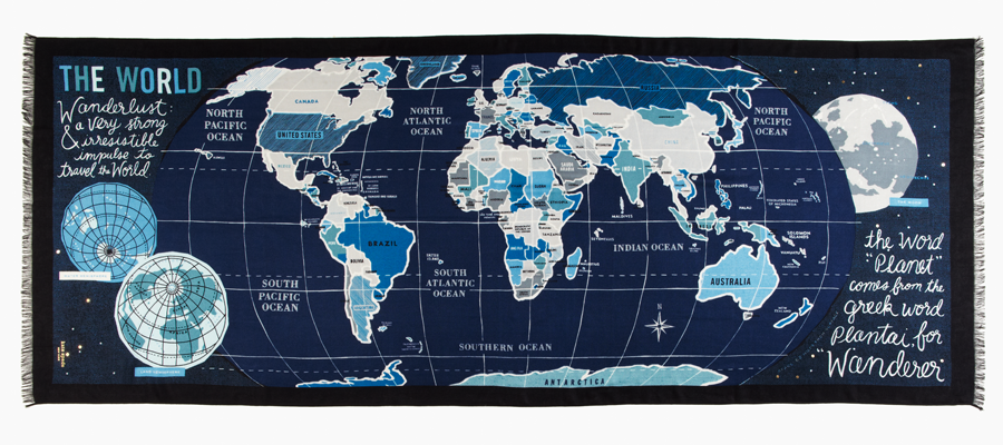World Map Wendy Chan Design Illustrations