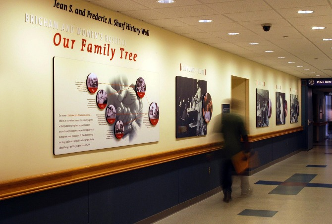 Brigham and Women's Hospital History Wall - proundesign