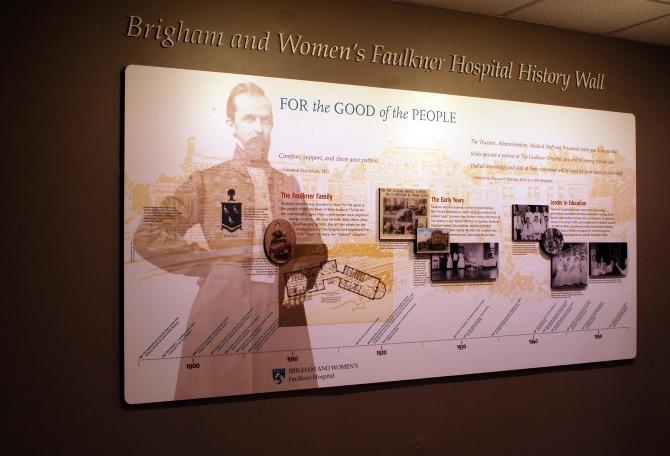 Faulkner Hospital History Wall - proundesign