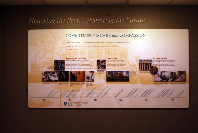 Faulkner Hospital History Wall - proundesign
