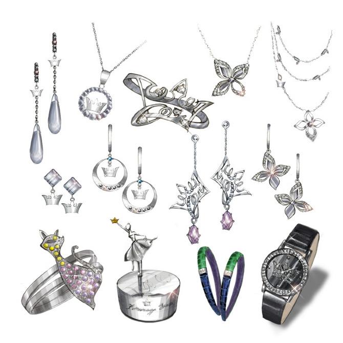 Jewelry Illustration Sellene lee design