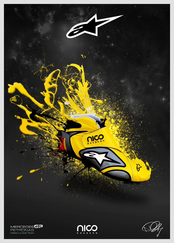Design Squad Website >> Nico Rosberg Shoes - The visual work of Jason Pooley