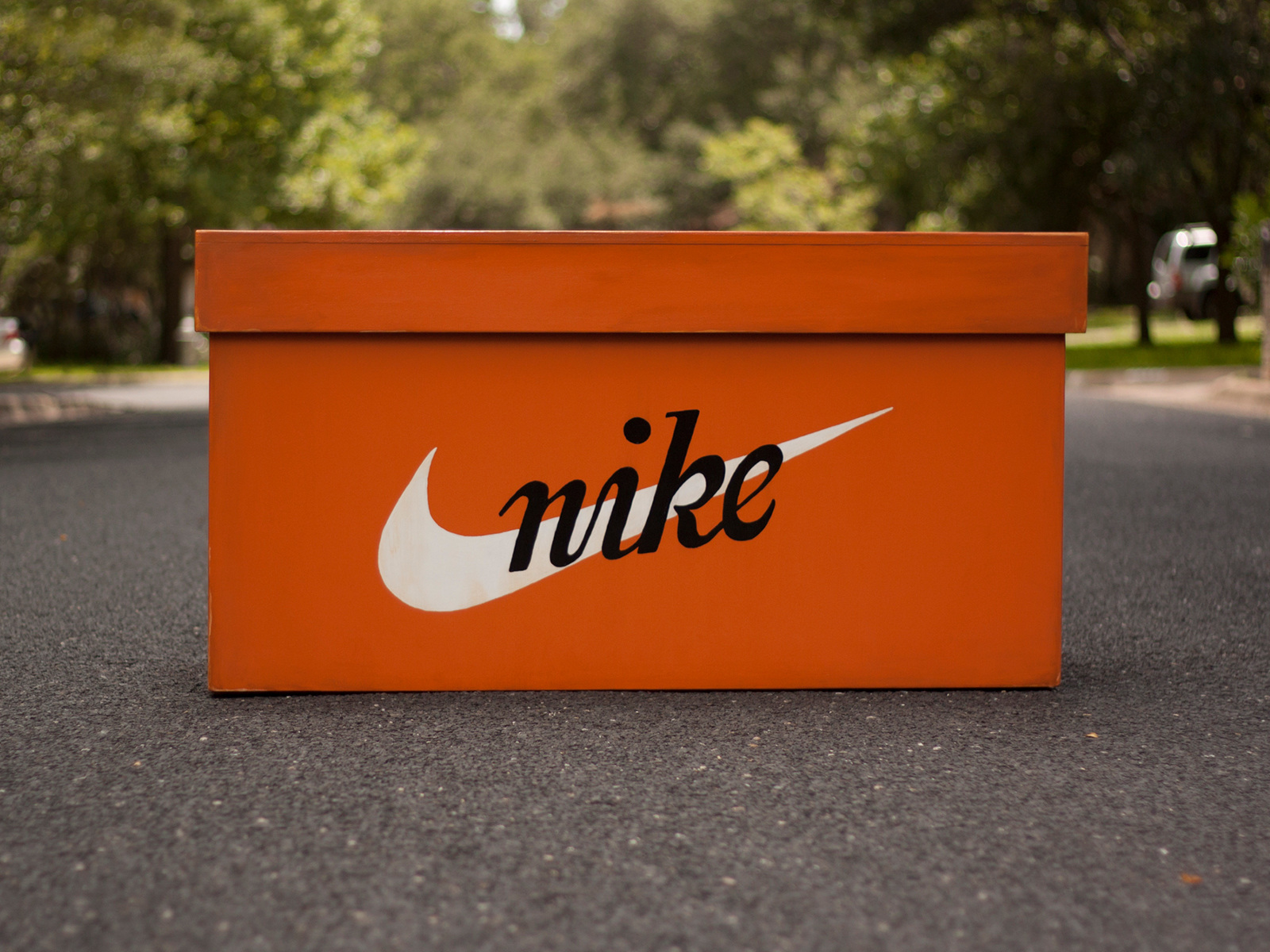 Nike Wooden Shoe Box
