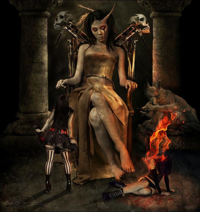 Ведьмы дьявола в картинках