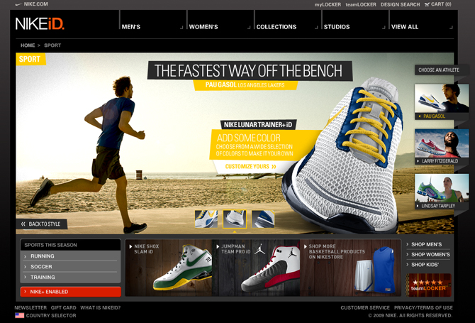 wholesale dealer 25370 50b53 Interactive experience designed for NIKEiD.com based on the
