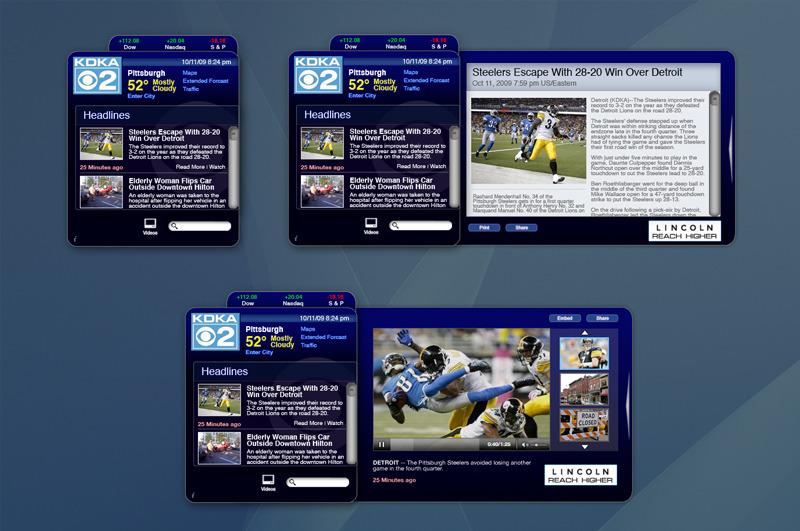 KDKA News Widget Design - Tony Spoto's Portfolio