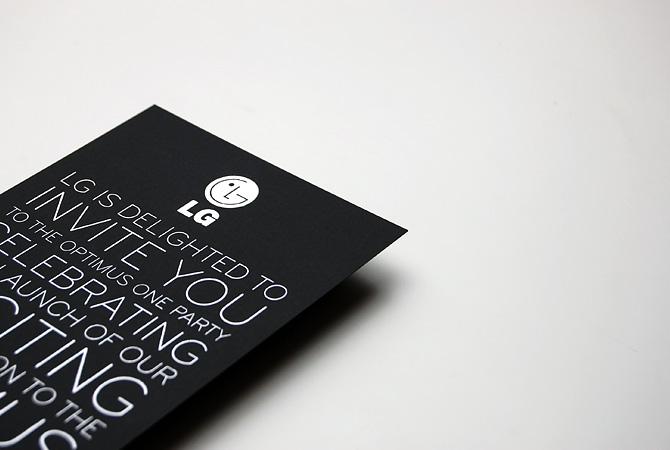 LG Optimus One Invite - Popcorn Design, London