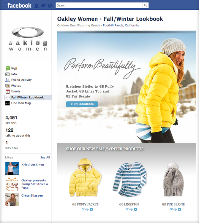 Oakley Facebook